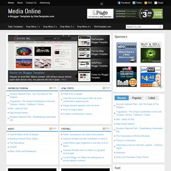 Top 10 Best Free News Blogger Templates - Download for Website, Blogs