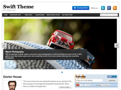 Swift básico WordPress Tema Livre