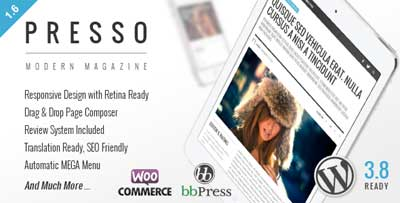 PRESSO - Clean and Modern Magazine Theme