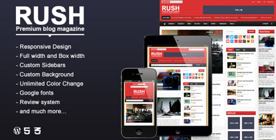 Rush WordPress Blog Magazine Theme