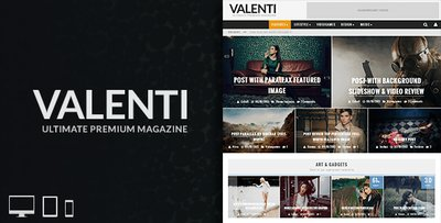 Valenti WordPress HD Review Magazine News Theme