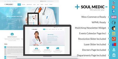SoulMedic - Flat Responsive Medical and Health Theme