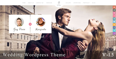Gittys wedding wordpress theme