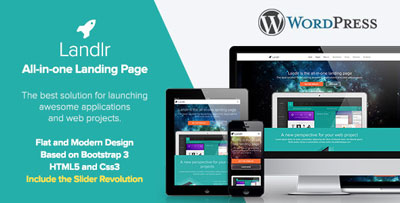Landlr Landing Page Wordpress Theme
