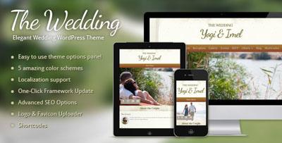 The Wedding Elegant Wedding WordPress Theme