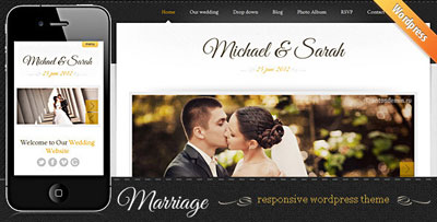 Marriage Responsive Wedding WordPress Theme