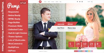 Pump Responsive Wedding and Multi-purpose Theme
