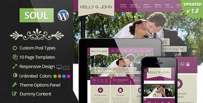 Soul Responsive WordPress Wedding Theme