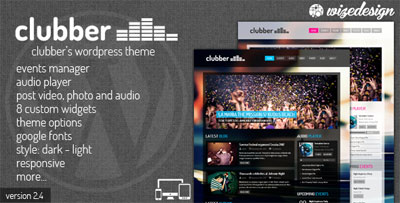Clubber Events and Music WordPress Theme