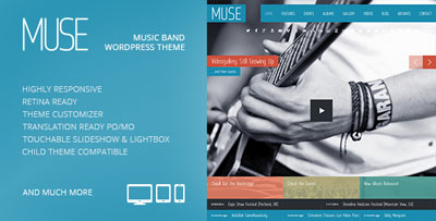 Muse Responsive Music Wordpress Theme