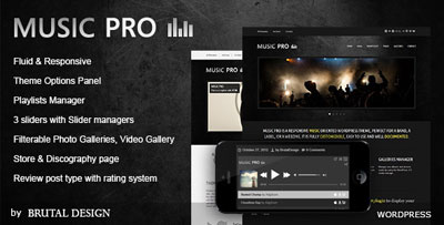 Music Pro Music Oriented WordPress Theme