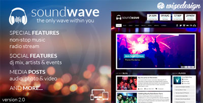 SoundWave The Music Vibe WordPress Theme