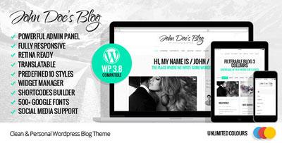 John Doe's Blog Theme