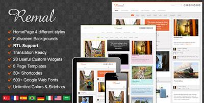 Remal WordPress Blog Theme