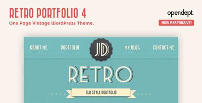 Retro Portfolio WP Theme