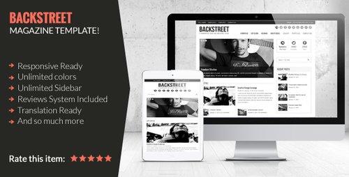 backstreet blog wordpress theme