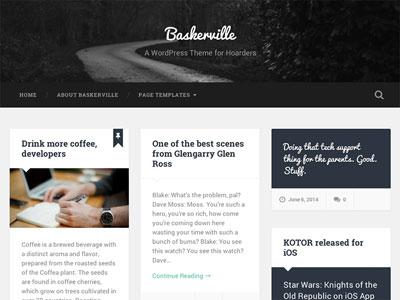 Baskerville Blog WordPress Theme