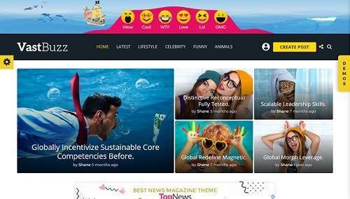 vastbuzz wordpress viral theme