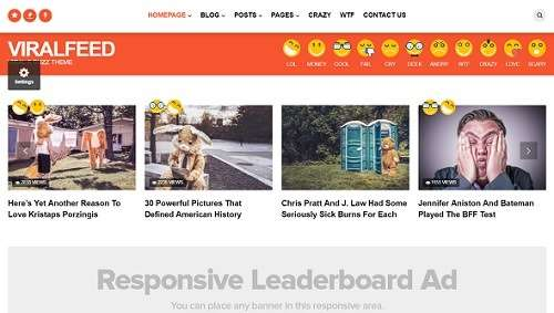 viralfeed wordpress theme